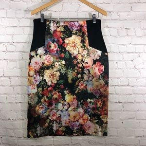 Pencil Floral Skirt By Eci New York